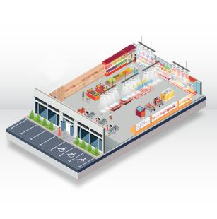 Проектиране и технологично разпределение на търговски обекти