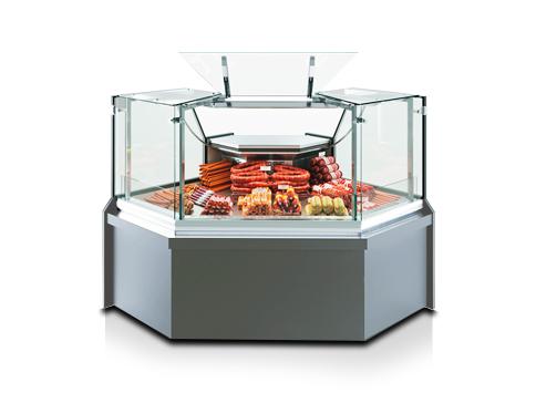 Щандови хладилни витрини с прави стъкла