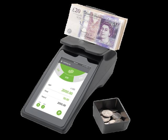 Сензорна машина за броене на монети и банкноти Tellermate Touch