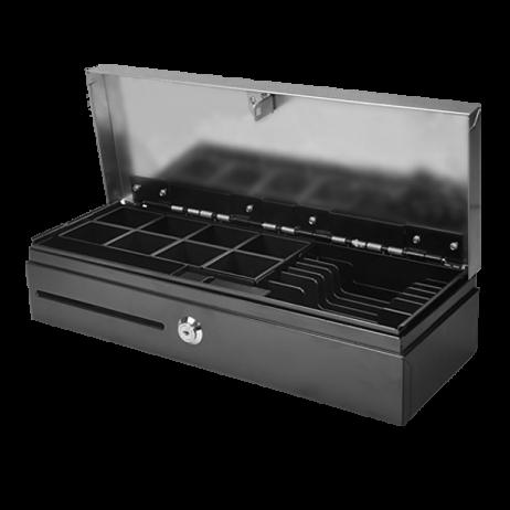 Касово чекмедже / сейф за пари с горно отваряне Flip Top с капак от неръждаема стомана