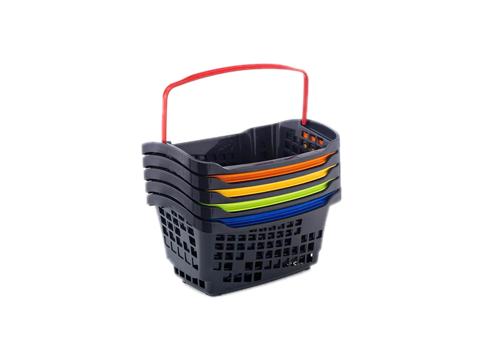 Кошница за пазаруване черна с цветни дръжки Araven 20L