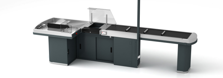 Касов модул с транспортна лента DIAMOND Supermarket INOX