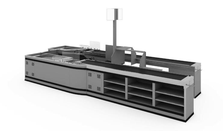 Касов модул с транспортна лента GERMAN Style INOX