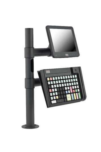 Стойка за касов модул E-POLE за монитор и ПОС клавиатура
