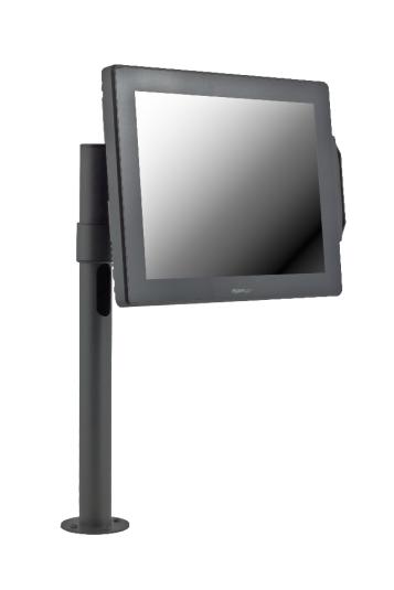 Стойка E-POLE за монитор VESA 75x75 мм и клиентска индикация, с единично L рамо