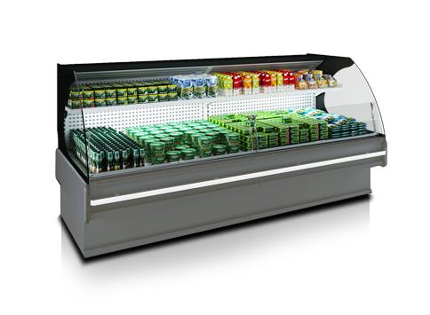 Щандови хладилни витрини с извити стъкла