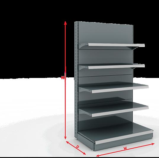 Стелажи за магазини система SG50 (класическа Европейска стелажна система)