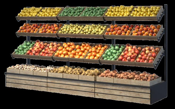 Стелаж за плодове и зеленчуци Select ME