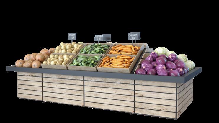 Стелаж за лодове и зеленчуци островен Select ME