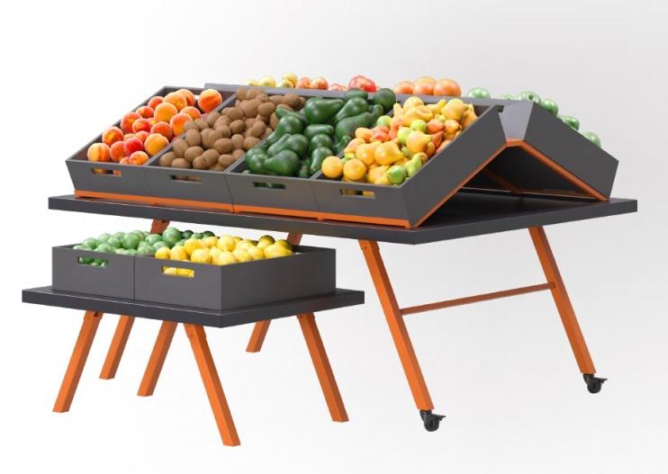 Стелаж за плодове и зеленчуци островен Greora Trapez ME