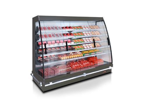 Полувертикални хладилни витрини