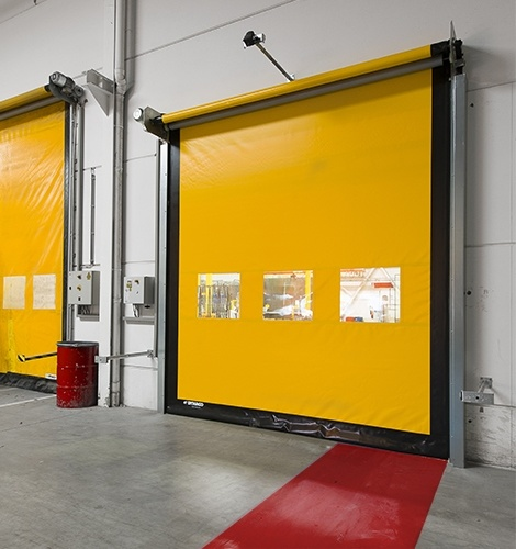 Бърза високоскоростна ролетна врата индустриална Dynaco M2 COMPACT