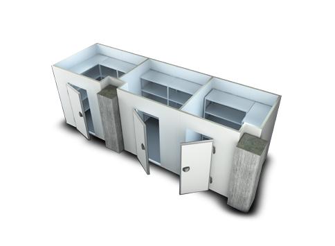 Модулна сглобяема хладилна камера
