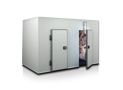Модулна хладилна камера за месо с отвор за тръбен път