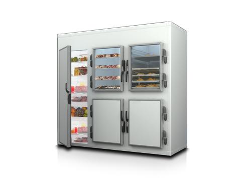 Модулна хладилна камера със стъклени врати