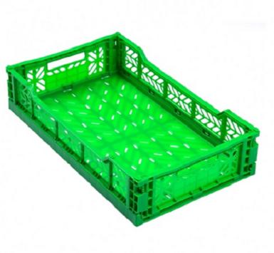Сгъваема касетка за зеленчук - цвят зелен 40х30х15