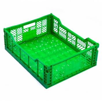 Сгъваема касетка за зеленчук - цвят зелен 60х40х10