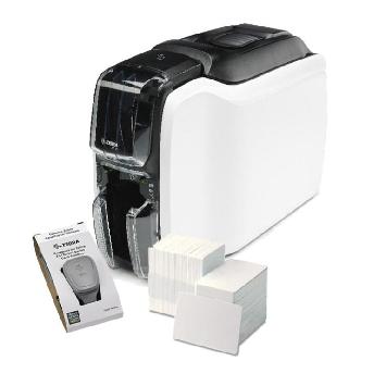 Картов принтер Zebra ZC100 Bundle, single sided, 12 dots/mm (300 dpi), USB