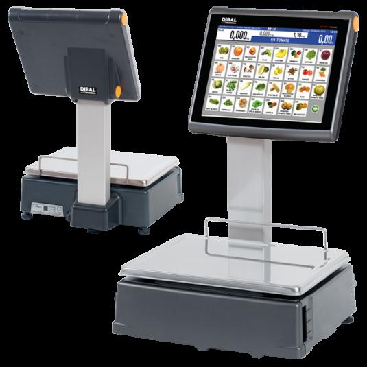 """Етикиращи везни на самообслужване Dibal D900 С 10"""", 12"""" и 15"""" LCD ТЪЧ Дисплей"""