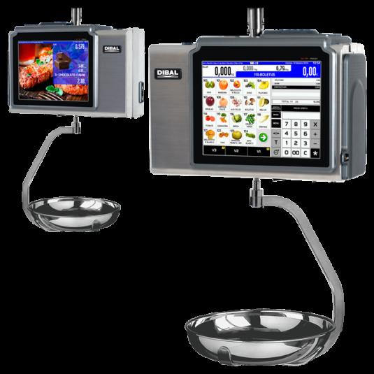 """Етикиращи висящи везни за риба и месо Dibal D900 С 12"""" LCD ТЪЧ Дисплей"""