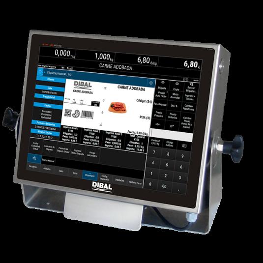 Индустриални измервателни теглови PC базирани индикатори Dibal VT-1200